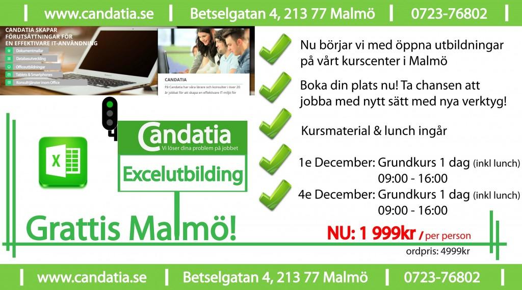 Grattis Malmö! Excelutbildning på vårt nya kurscenter